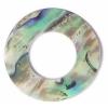Shell Pendant 30mm Ring Shape Abalone